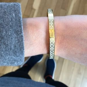 Monogram coach bangle